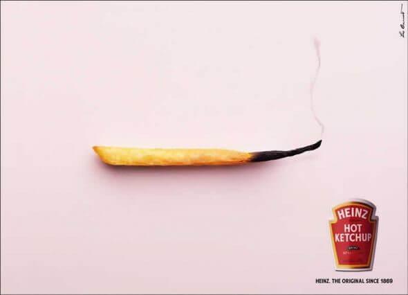 تبلیغات خلاق heinz, hot ketchup
